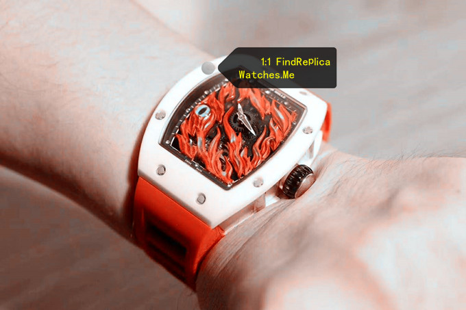 Fake Richard Mille RM 26-02 Evil Eye White Ceramic Bezel With Red Strap Watch