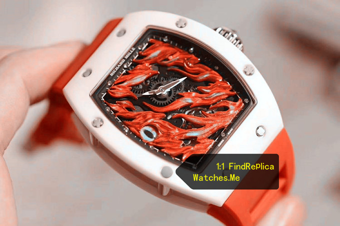 Red ceramic flame yellow Evil Eye White Ceramic Bezel face