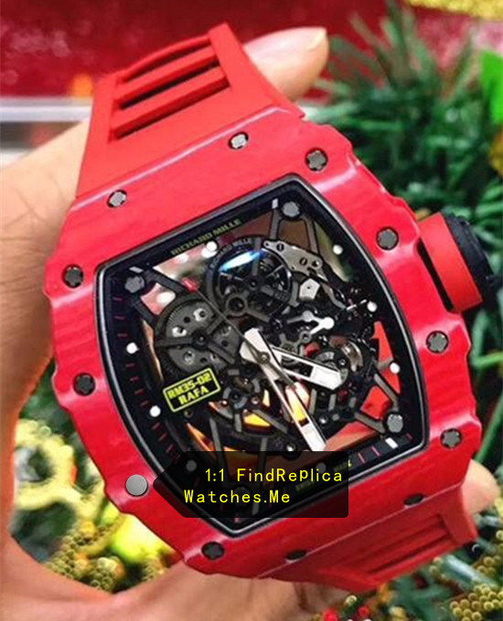 Replica Richard Mille RM 35-02 Rafael Nadal All Red Watch HD image