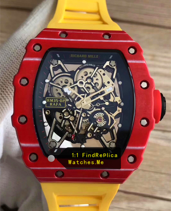 Richard Mille RM 35-02 Red With Black Side With Yellow Strap
