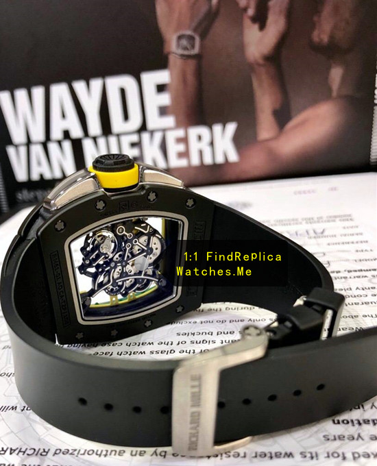 Replica Richard Mille RM 61-01 Black Yohan Blake Hollow back