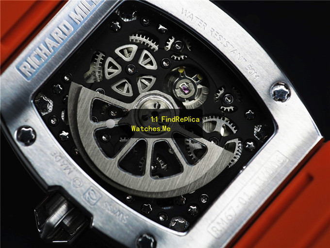 Fake Richard Mille RM 67-01 Titanium Back