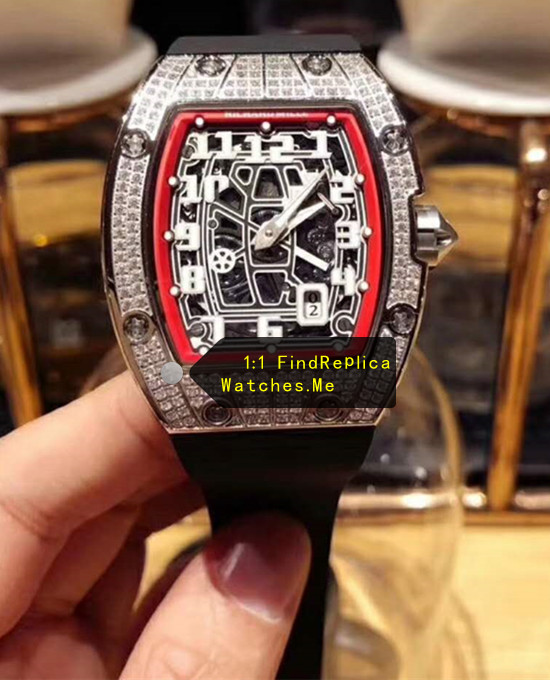 Richard Mille RM 67-01 Ultra-Thin White Diamond Red Inner Frame
