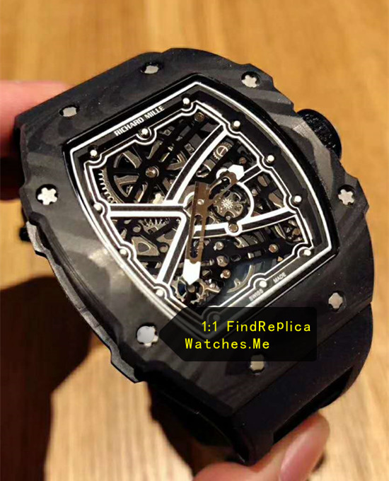 Fake Richard Mille RM 67-02 All Black Sports Watch