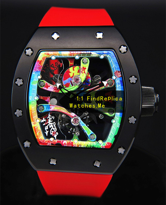 Richard Mille RM 68-01 Color Graffiti Skeleton Watch
