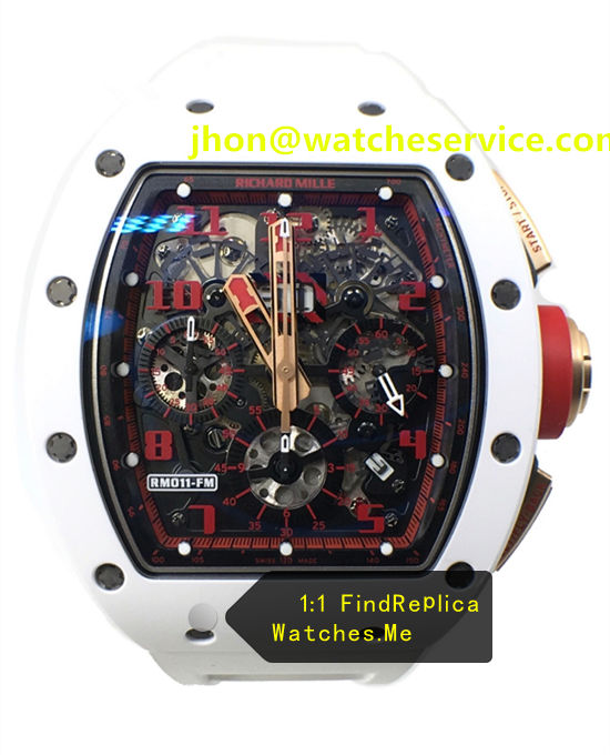Red Face Fake Richard Mille RM011-FM White Ceramic Watch