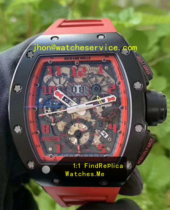 Red Face With Black Ceramic Richard Mille RM011-FM Watch
