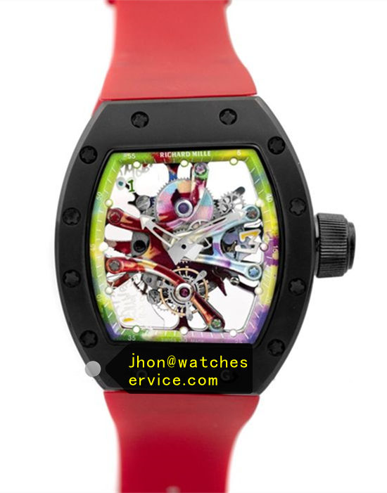 Red RM 68-01 Ceramic Bezel Graffiti