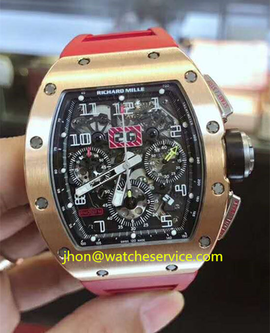 Red Strap Richard Mille RM-011-FM 18K-Gold Cheap
