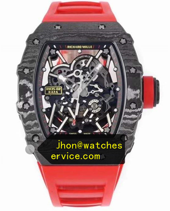 Red Strap Richard Mille RM 35-02 Original Carbon Fiber