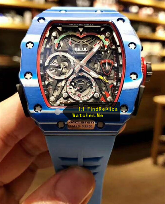 Blue Richard Mille RM 50-03 McLaren F1 Sport Watch