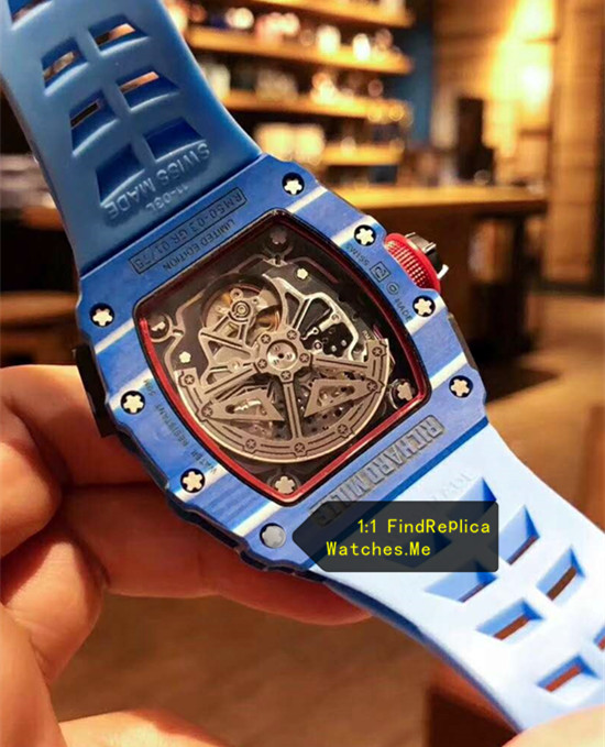 Replica Blue Richard Mille RM 50-03 McLaren F1 Sport Watch back
