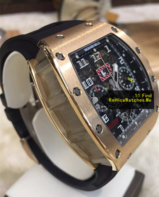 Replica Richard Mille RM 011-FM Flyback Chronograph Rose Gold Side