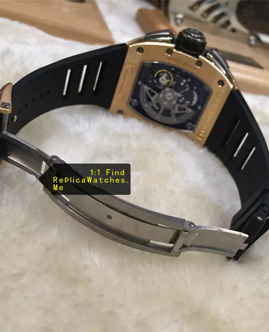 Replica Richard Mille RM 011-FM Flyback Chronograph Rose Gold back and Titanium buckle