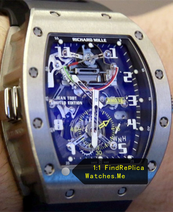 Replica Richard Mille RM 036 G-Sensor With Black Rubber Strap Watch