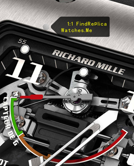 Replica Richard Mille RM 036 G-Sensor gravity measurement display