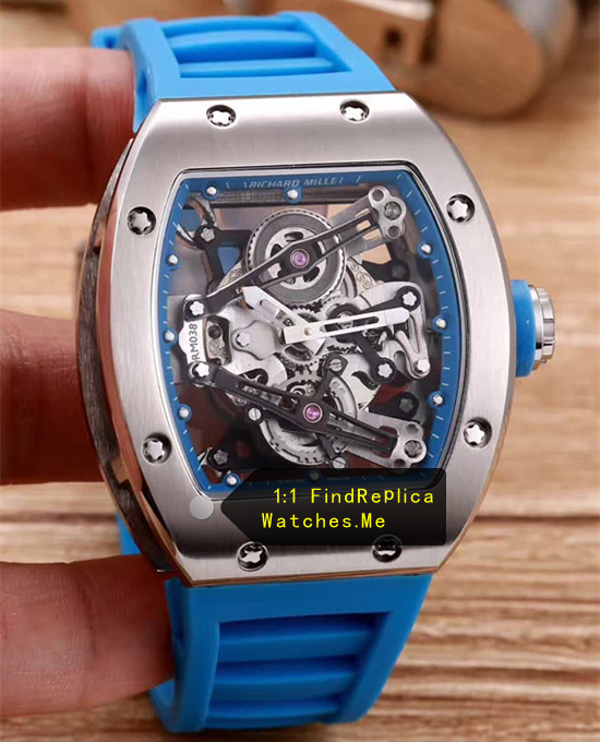Richard Mille RM 038 Steel Case Navy Blue Strap JJ-Factory
