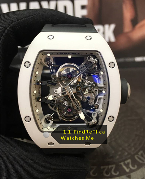 Richard Mille RM 038 White Bezel Black Strap Bubba Watson H-maker