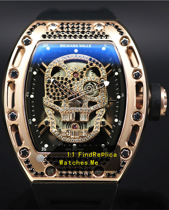 Richard Mille RM 052 Rose Gold With Black Diamonds Watch