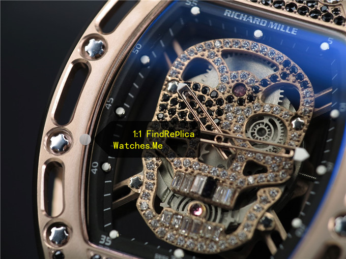 Replica RM 052 Rose Gold With Black Diamonds Watch