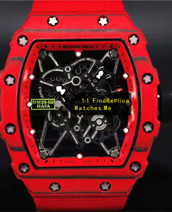 Richard Mille RM 35-02 Red Bezel With Black Side With Nylon Strap