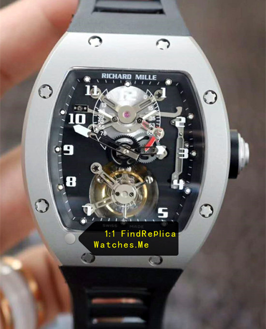Richard Mille RM 001 High Polished Steel True Tourbillon Watch