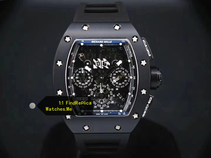 Replica Richard Mille RM 011 Black Ghost Chronograph Watch