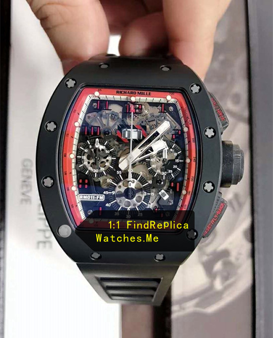 Richard Mille RM 011 Black With Red Inner Frame Red Hour Mark