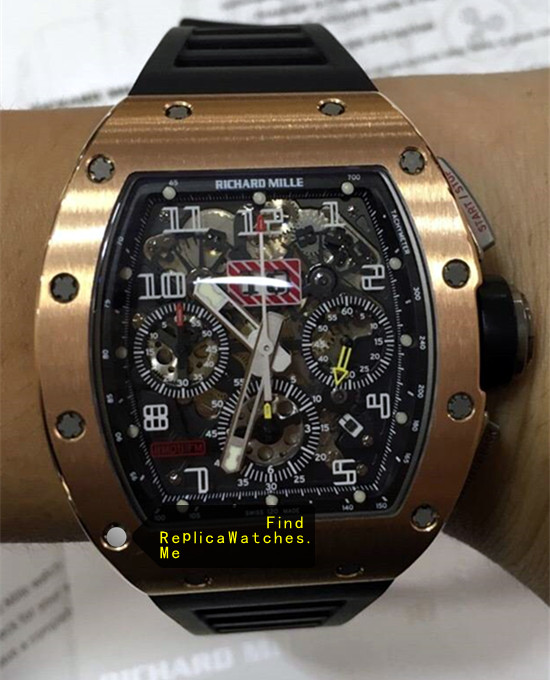 Richard Mille RM 011-FM 18K-Rose-Gold Cheap