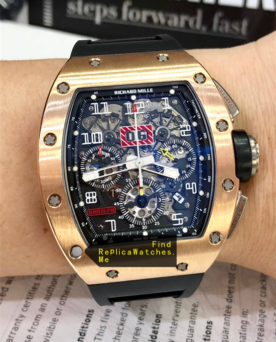 Replica Richard Mille RM 011-FM 18K-Rose-Gold Watch