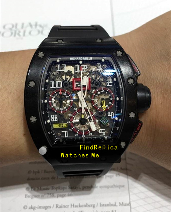 Richard Mille RM 011-FM All Black Red Circle Cheap