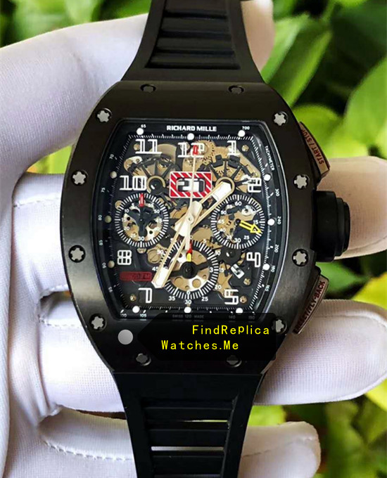 Richard Mille RM 011-FM All Black White Circle Cheap