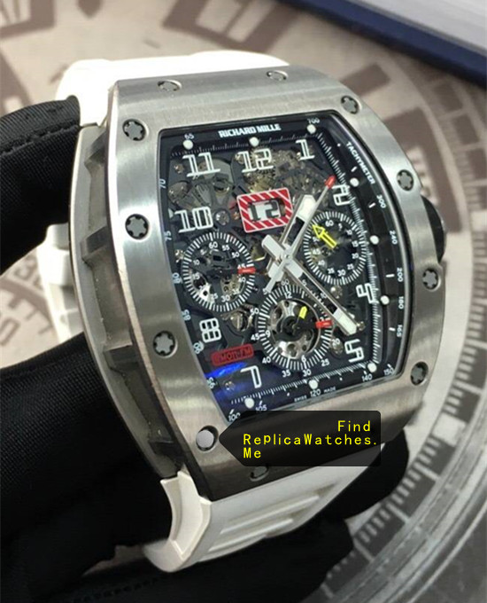 Replica Richard Mille RM 011-FM With White Rubber Strap