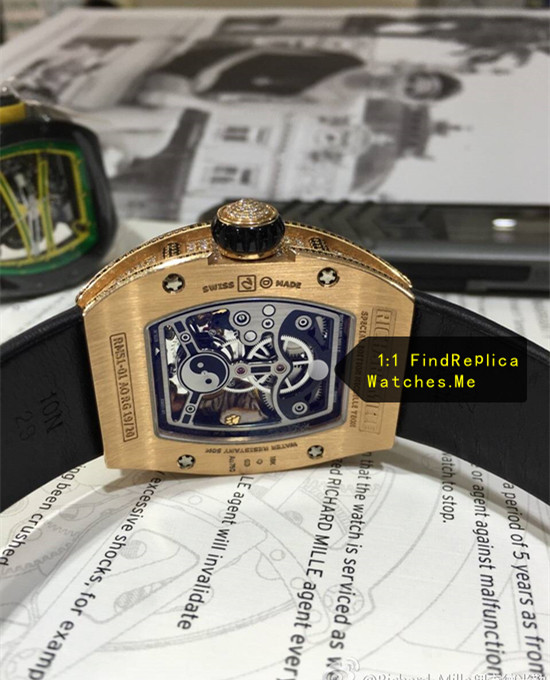 Replica Richard Mille RM 029 18k-Gold side