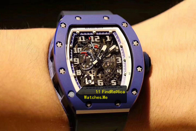 Replica Richard Mille RM 030 Blue French Paris Limited Edition on the Wrist