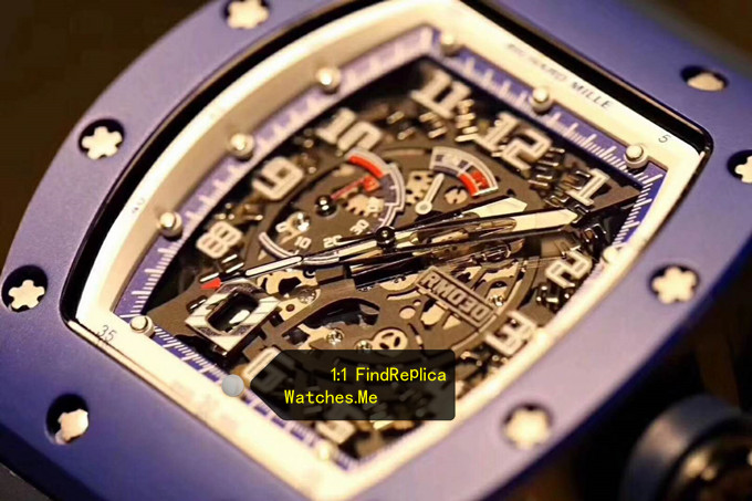 Replica Richard Mille RM 030 Blue French Paris Limited Edition HD Face