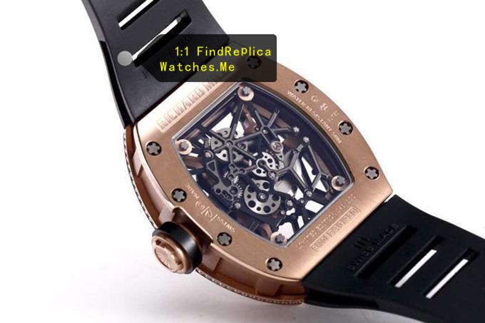 Replica Richard Mille RM 035 Diamond With Gold Back