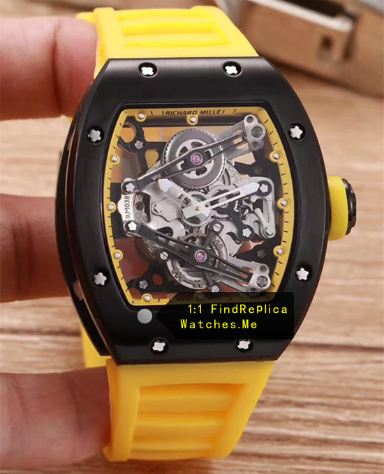Richard Mille RM 038 Black Case Yellow Strap JJ-Factory