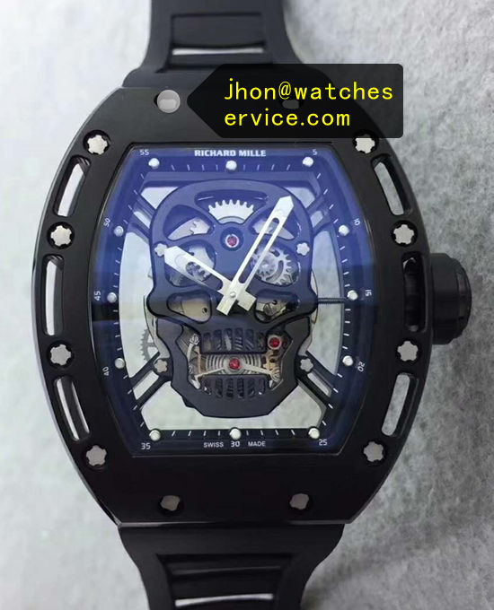 Cheap Richard Mille RM 052 SKULL All Black Watch