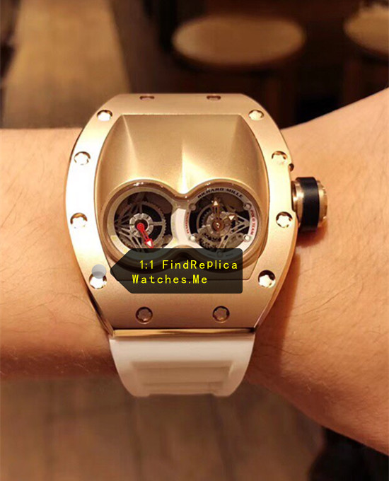 Replica Richard Mille RM 053 TiC Rose Gold Watch