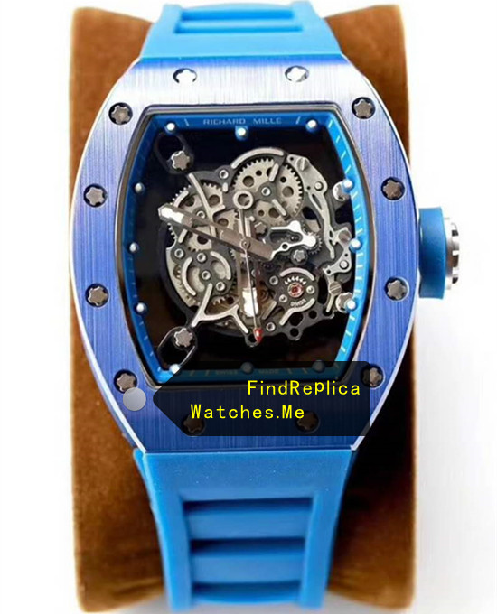 Richard Mille RM 055 Dark Blue Steel Metal Watch