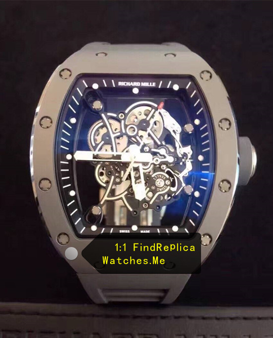 Cheap Richard Mille RM 055 Gray Steel Metal Watch