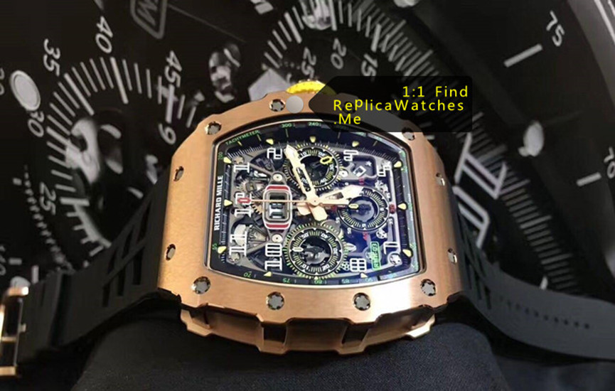 Replica Richard Mille RM 11-03RG Polished Bronze Titanium side