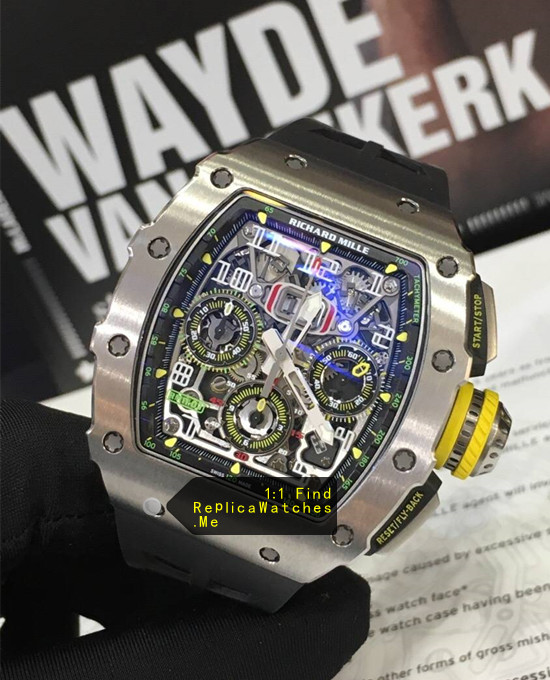 Replica Richard Mille RM 11-03RG Polished Silver Titanium