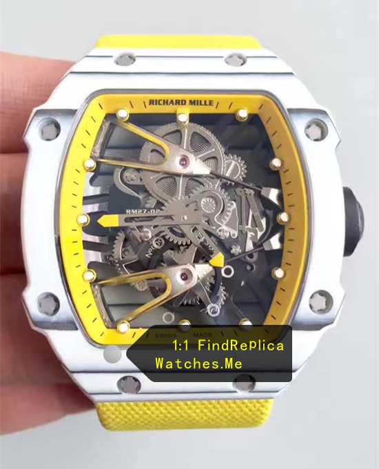 Replica Richard Mille RM 27-02 Yellow Sport Watch