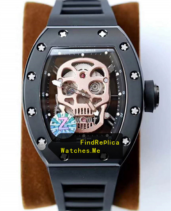 Richard Mille RM 52-01 Gold Skull Black Titanium From Z Factory