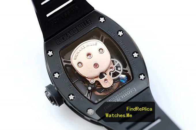 Replica Richard Mille RM 52-01 Gold Skull Black Titanium back