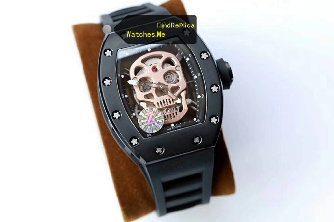 Replica Richard Mille RM 52-01 Gold Skull Black Titanium From Z Factory