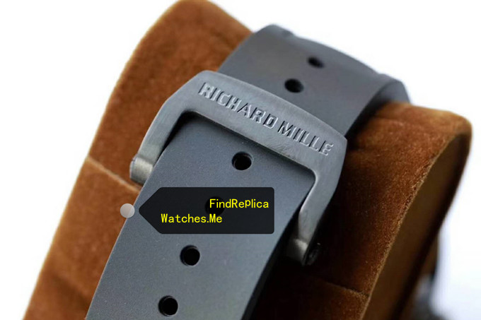 Replica Richard Mille RM 52-01 Black rubber strap