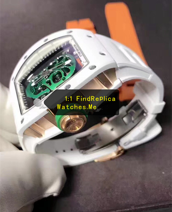 Replica Richard Mille RM 52-01 Green Skull 18k-gold side